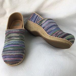 Dansko Jute Pro Multi Artisan Weave Fabric Clogs